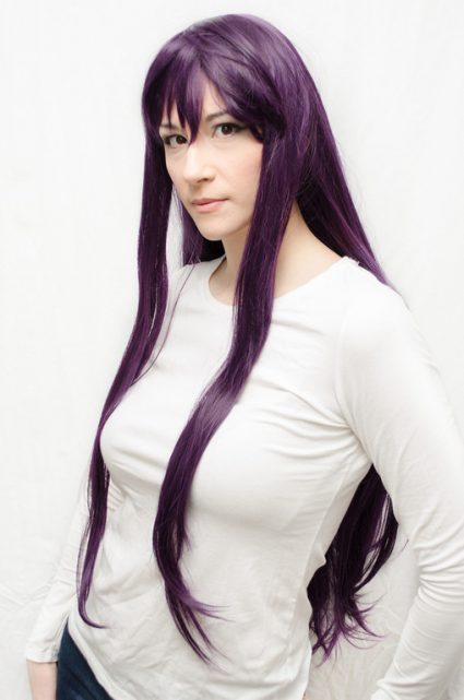 Sailor Mars cosplay wig