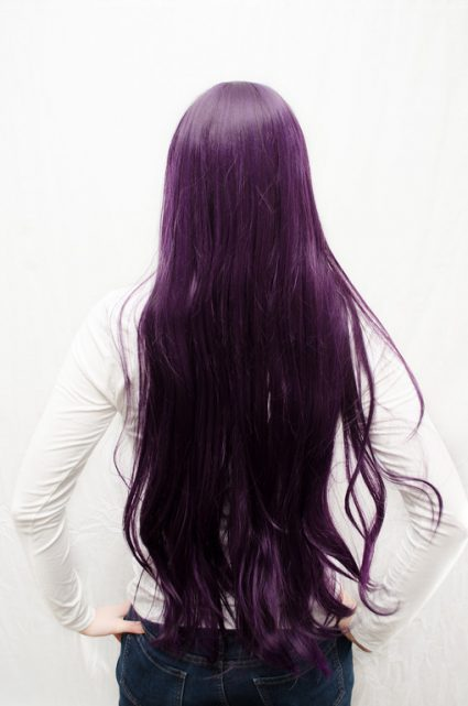 Rei Hino cosplay wig back view
