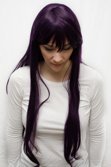 Rei Hino cosplay wig top view