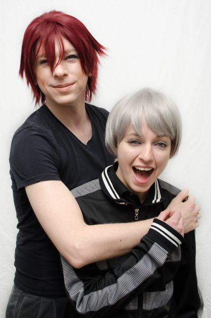Rin and Nitori cosplay wigs