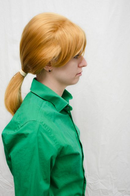 Alphonse Elric cosplay wig side view