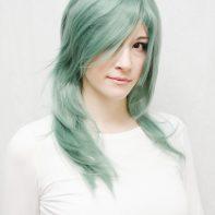 Rydia cosplay wig