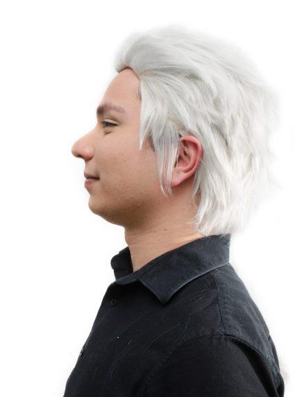 Vergil cosplay wig side view