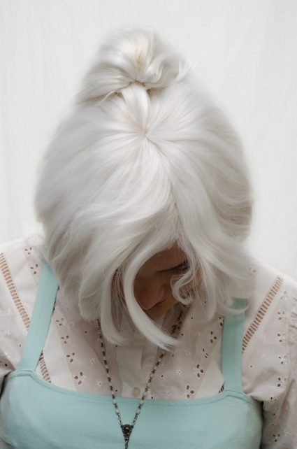 Weiss Schnee cosplay wig top view
