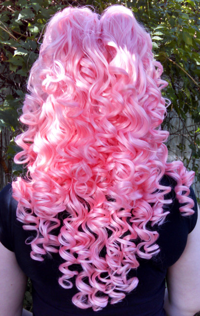 Rose Quartz wig back view