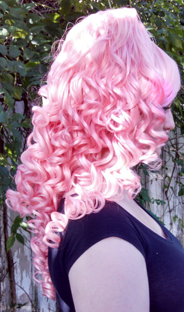 Rose Quartz wig side view