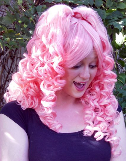 Rose Quartz cosplay wig