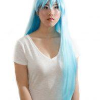 Light blue cosplay wig