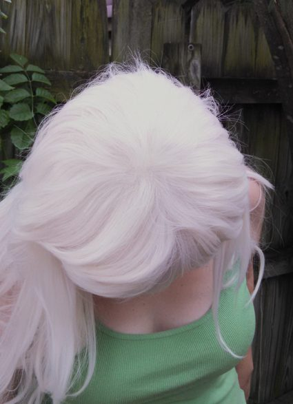 Jasper cosplay wig top view