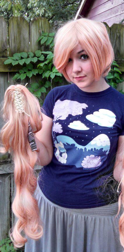 Junko Enoshima cosplay wig clip view