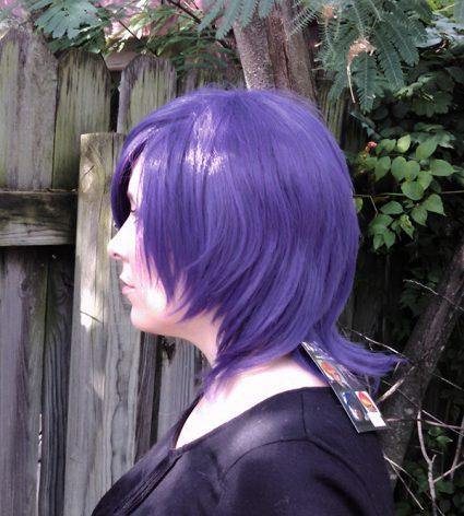 Touka Kirishima cosplay wig side view