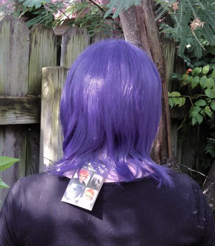 Lucifer cosplay wig back