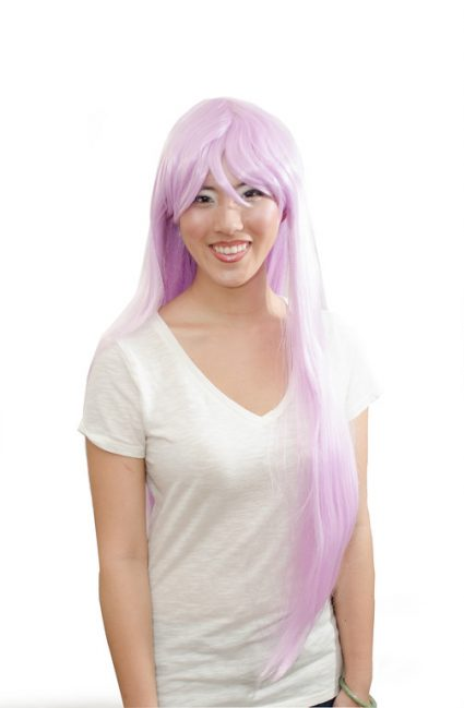 long lavender wig