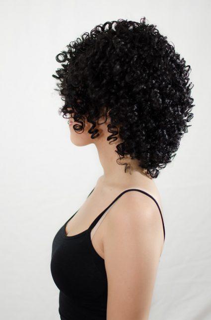 Garnet wig side view