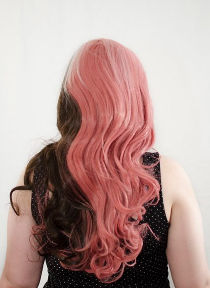 Neapolitan wig back view