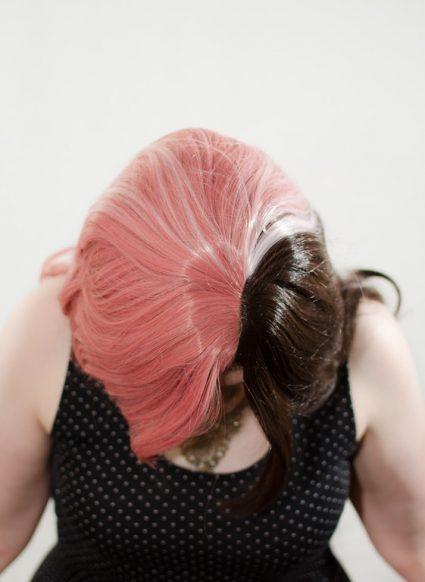 Neapolitan wig top view