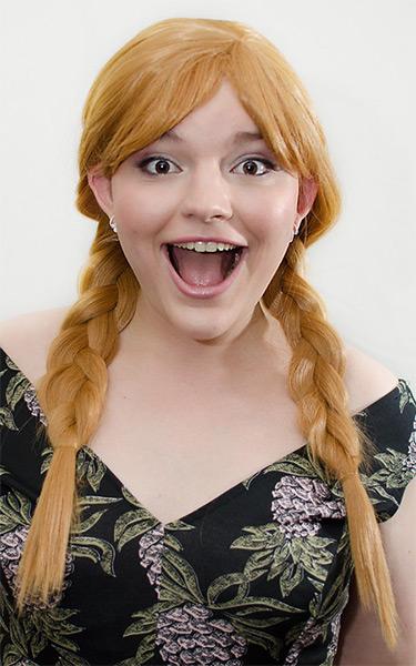 Anna cosplay wig