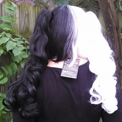 Monokuma wig back view