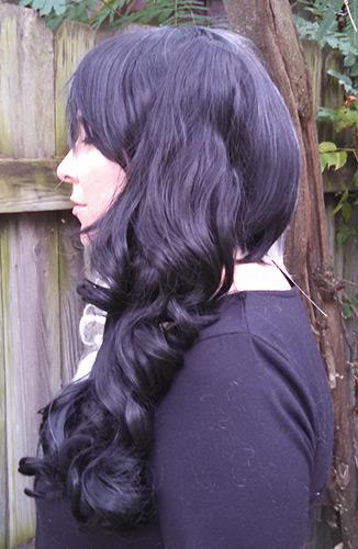 Monokuma wig side view