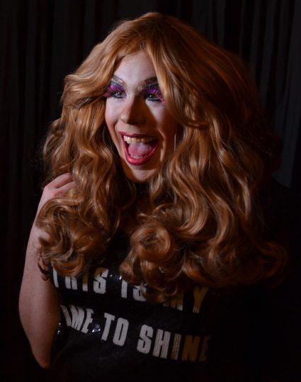 Caramel Cider as a drag wig