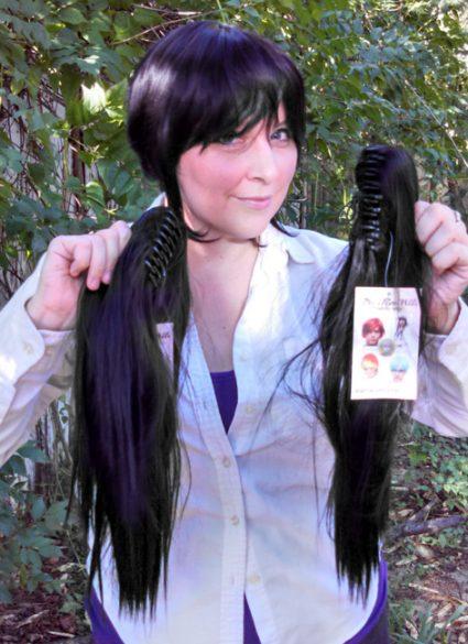 Nico cosplay wig clip view
