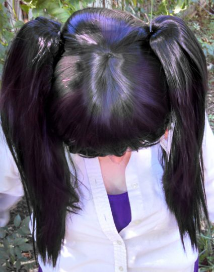 Nico cosplay wig top view
