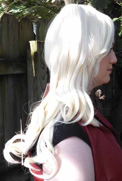 Harley Quinn wig side view