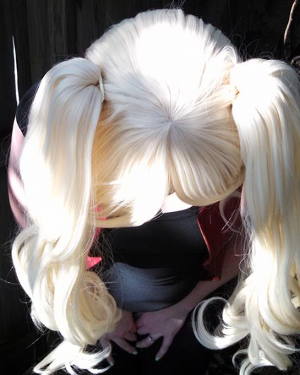 Harley Quinn wig top view