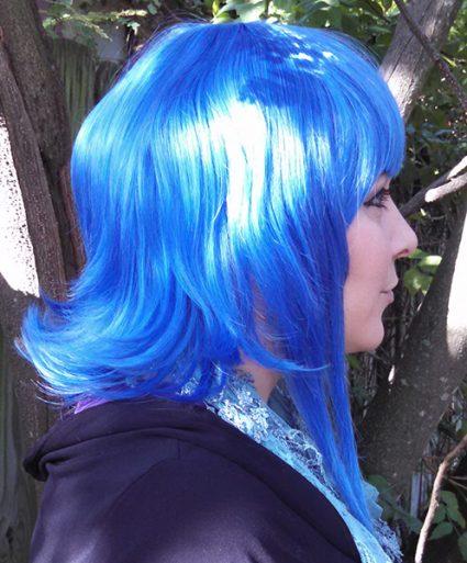 Lapis Lazuli wig side view