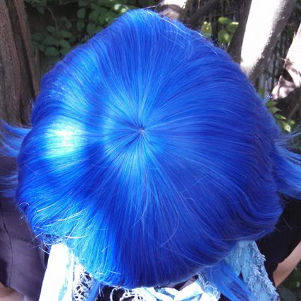 Lapis Lazuli wig top view
