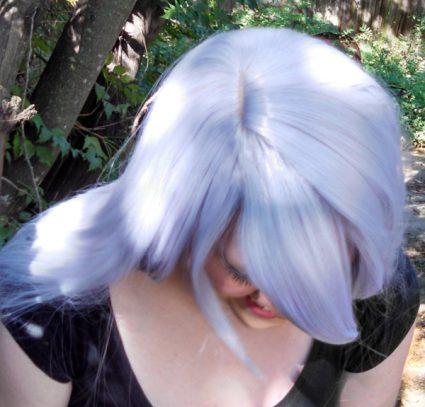 Amethyst wig top view