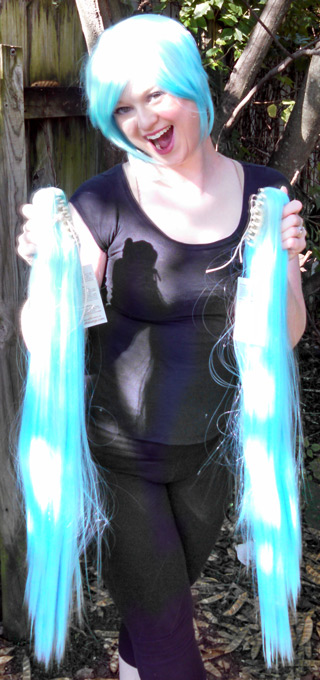 Nymph wig clip view