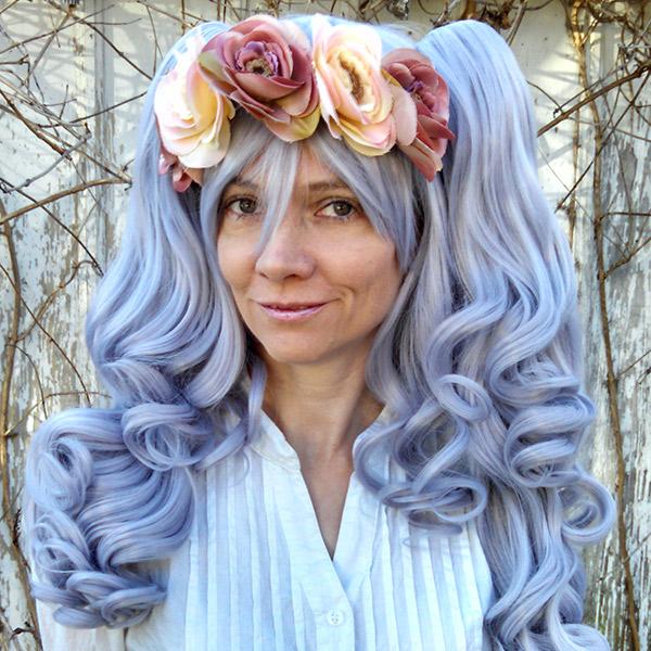 opal gothic loli cosplay wig