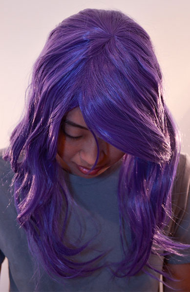 Rize wig top view