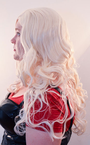 Black Canary wig side view