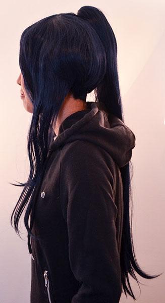 Kanda wig side view