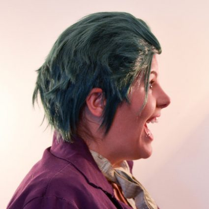 Joker wig side view
