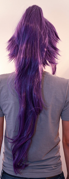 Yoruichi cosplay wig back view