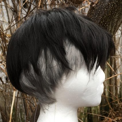 King JJ wig side view