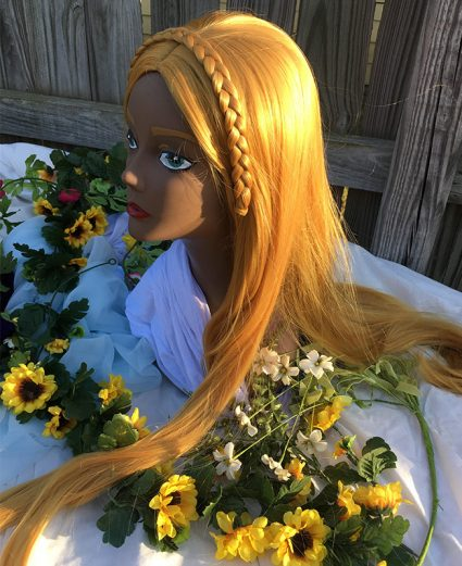 Zelda wig side view