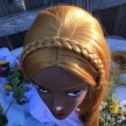 Zelda wig top view
