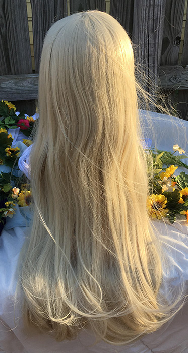Lillie cosplay wig back view
