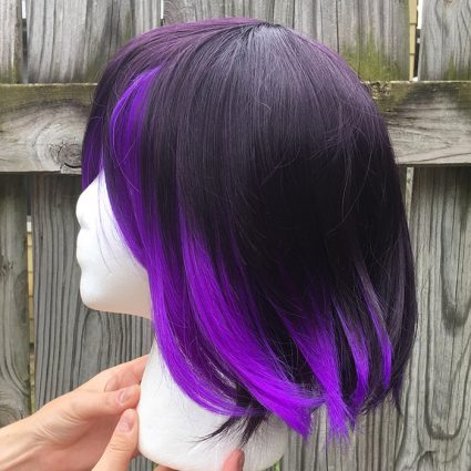 Kokichi cosplay wig side view