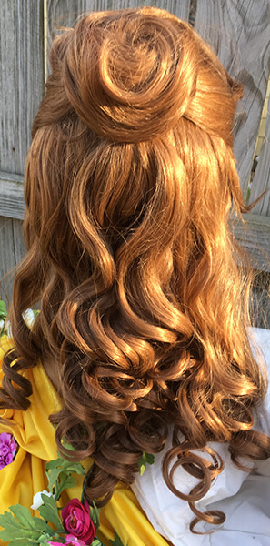 Belle wig back view