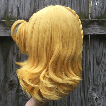 Mari cosplay wig back view