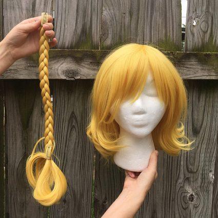 Mari cosplay wig braidless view