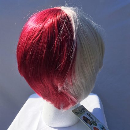 Todoroki cosplay wig back view