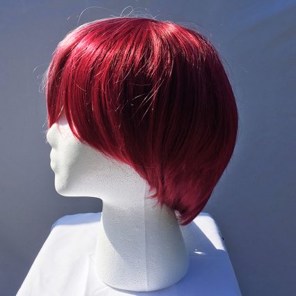 Todoroki cosplay wig red side view