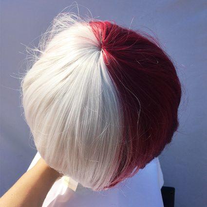 Todoroki cosplay wig top view