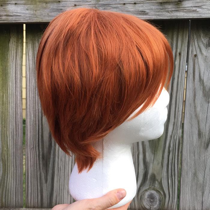 Weasley cosplay wig side view
